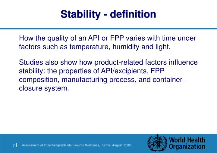Stability - definition