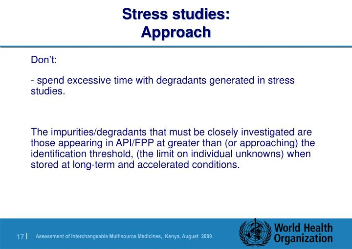 Stress studies: