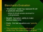blanchard s evaluation