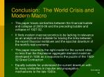 conclusion the world crisis and modern macro