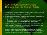 connections between macro doctrine and the current crisis