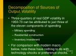 decomposition of sources of output volatility