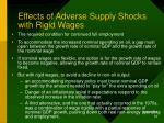 effects of adverse supply shocks with rigid wages