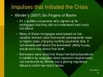 impulses that initiated the crisis