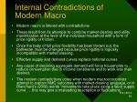 internal contradictions of modern macro