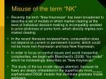 misuse of the term nk