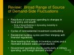 review broad range of source of demand side fluctuations