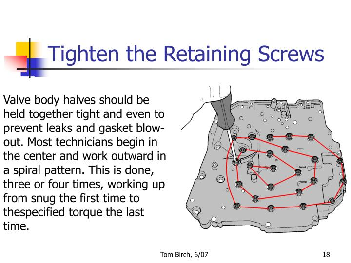 Tighten the Retaining Screws