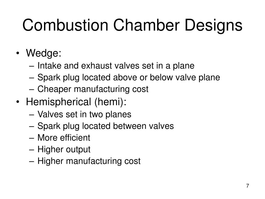 Combustion Chamber Designs
