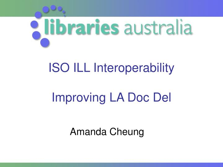 ISO ILL Interoperability