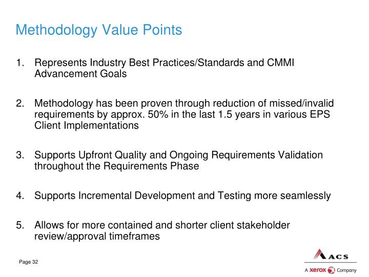 Methodology Value Points
