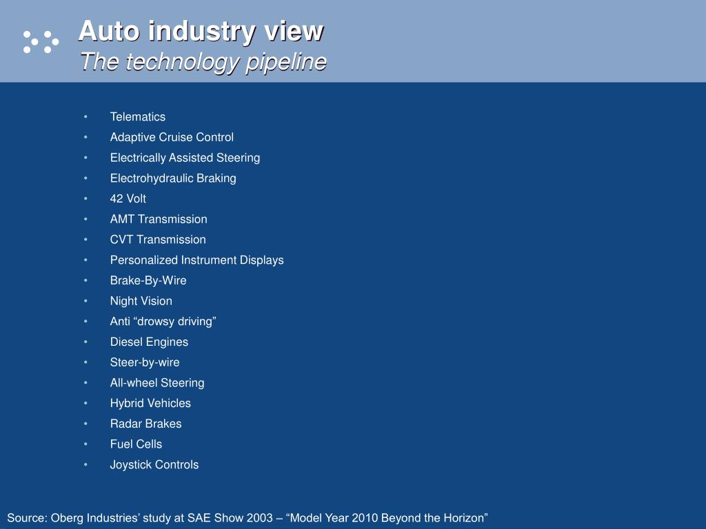 Auto industry view