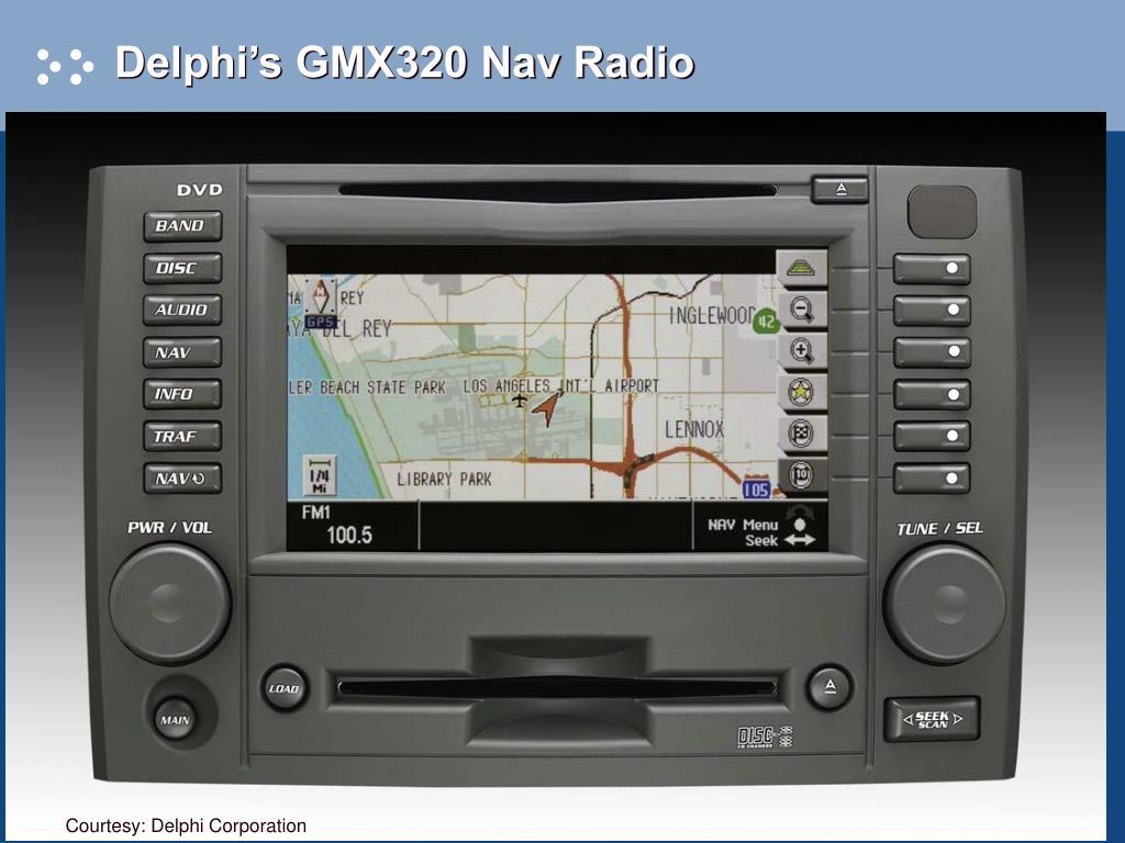 Delphi's GMX320 Nav Radio