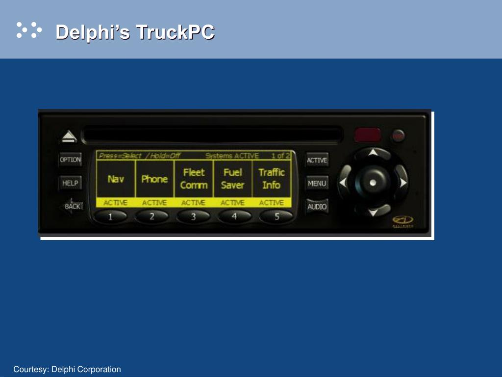 Delphi's TruckPC