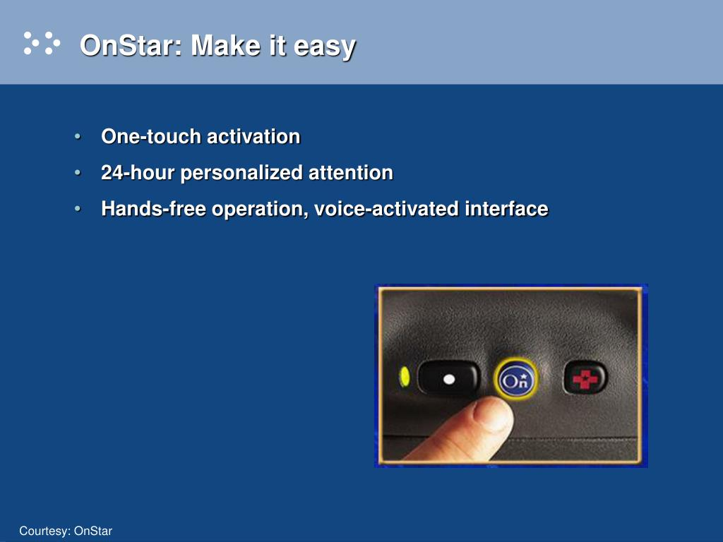 OnStar: Make it easy