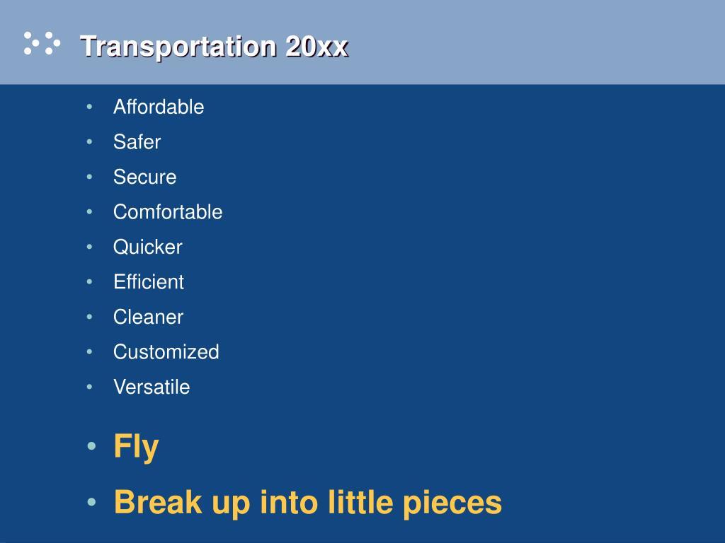 Transportation 20xx