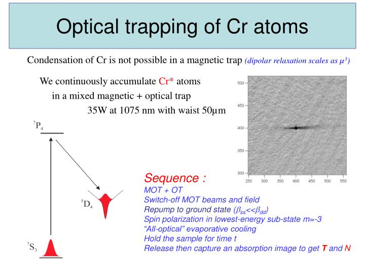 Optical trapping of Cr atoms