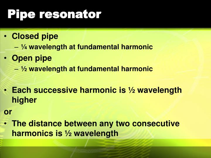 Pipe resonator