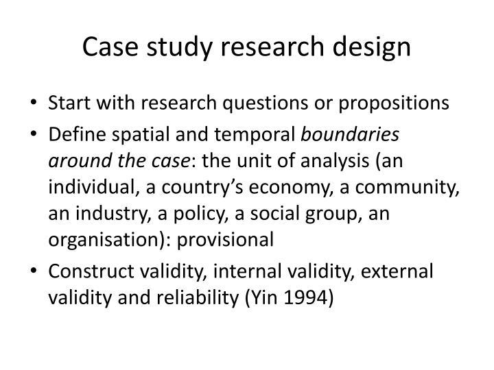 case study external validity