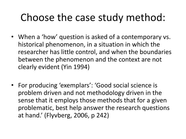 case study research design and methods yin 1994