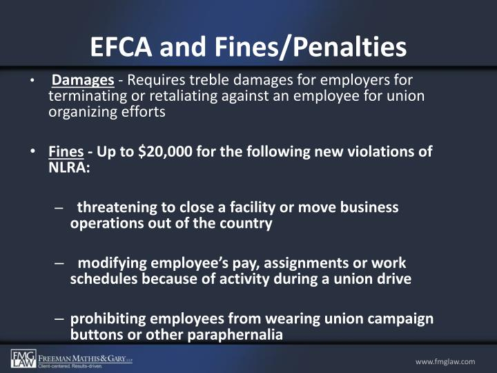 EFCA and Fines/Penalties