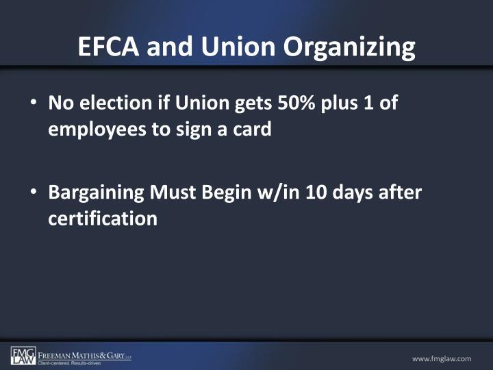 EFCA and Union Organizing