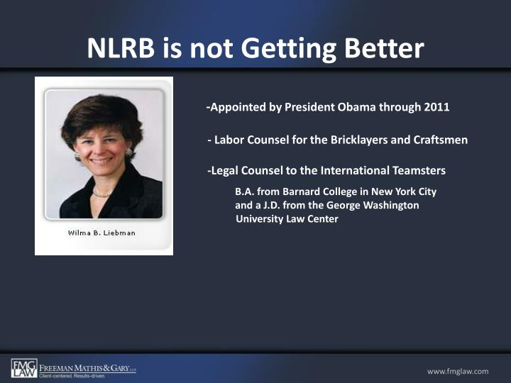 NLRB is not Getting Better