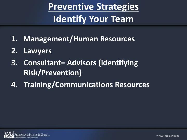 Preventive Strategies