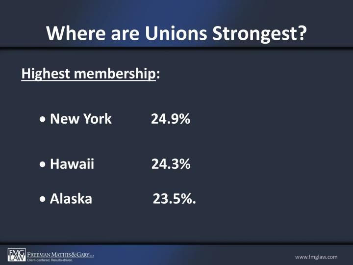 Where are Unions Strongest?