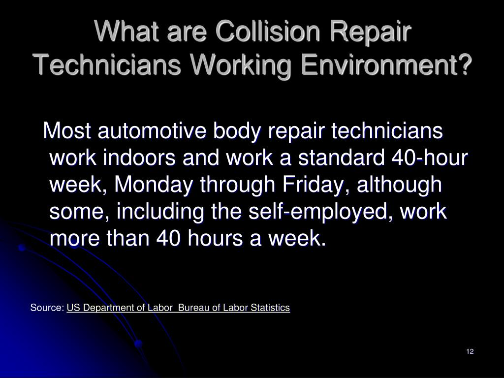 What are Collision Repair Technicians Working Environment?