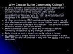 why choose butler community college