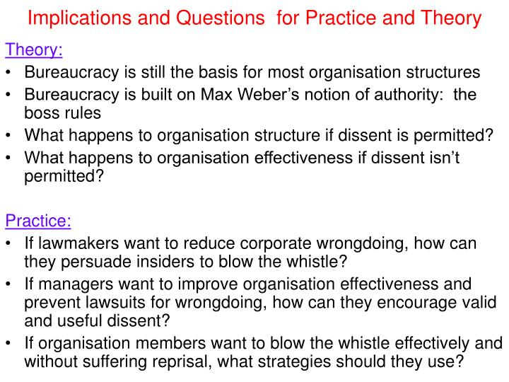 Implications and Questions  for Practice and Theory