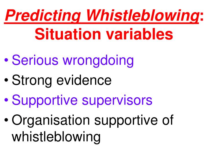 Predicting Whistleblowing