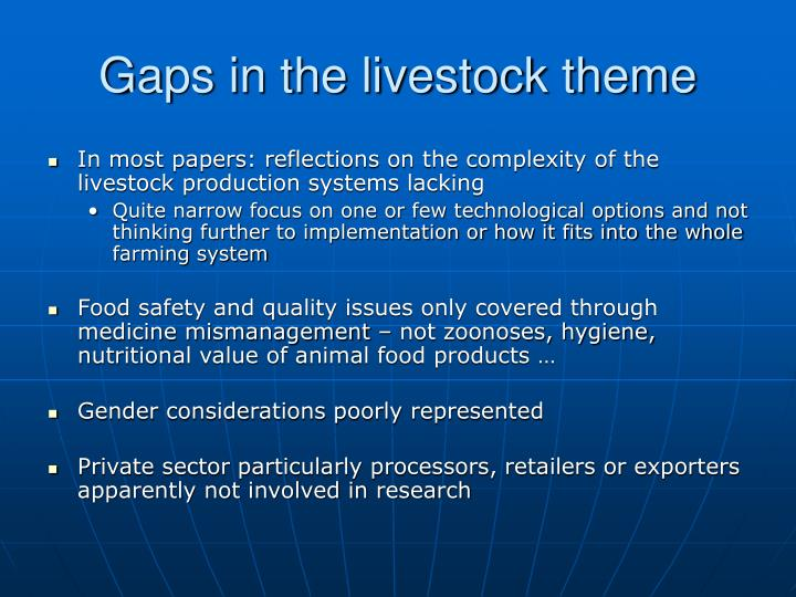 Gaps in the livestock theme