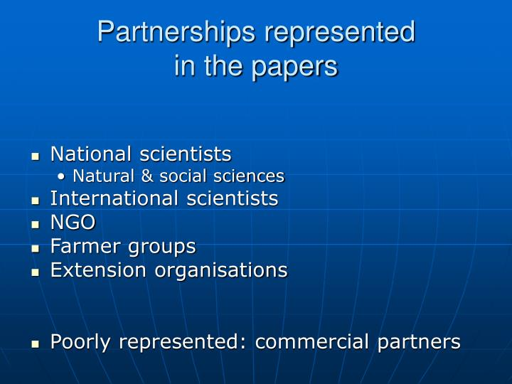 Partnerships represented