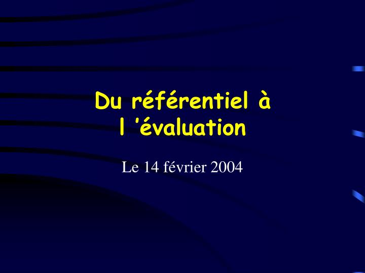 Du r f rentiel l valuation
