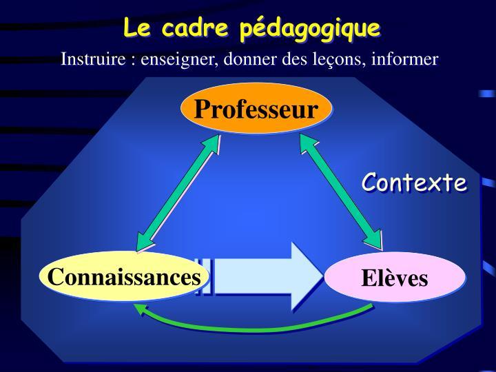 Le cadre pédagogique