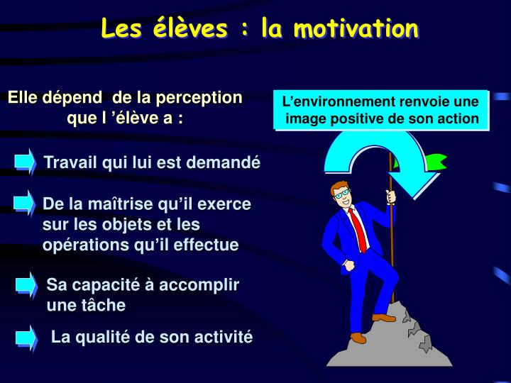 Les élèves : la motivation