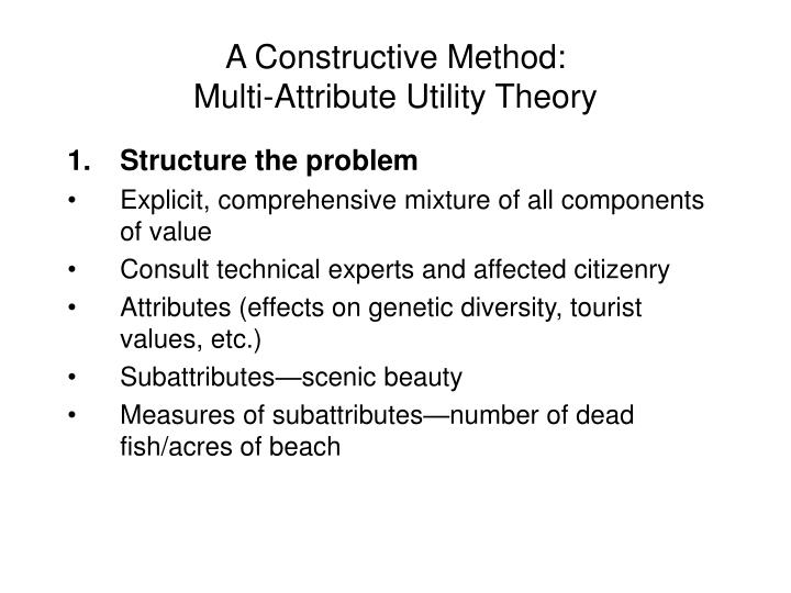 A Constructive Method: