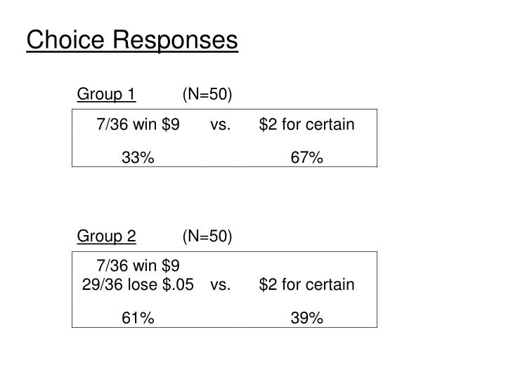 Choice Responses