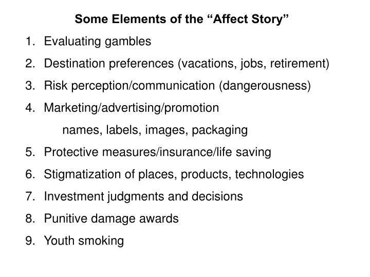 "Some Elements of the ""Affect Story"""