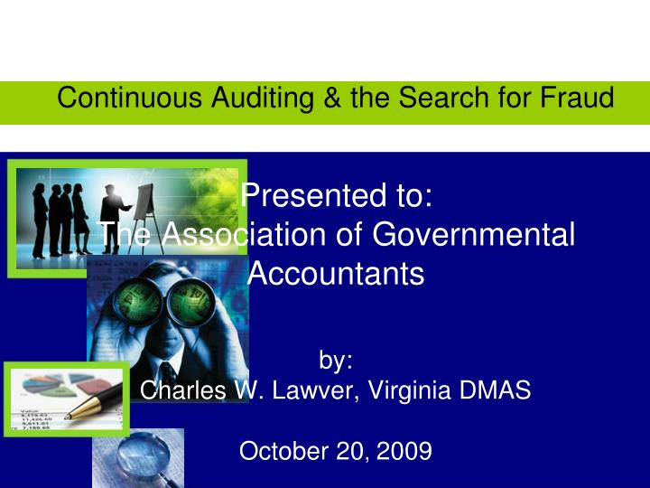Continuous Auditing & the Search for Fraud