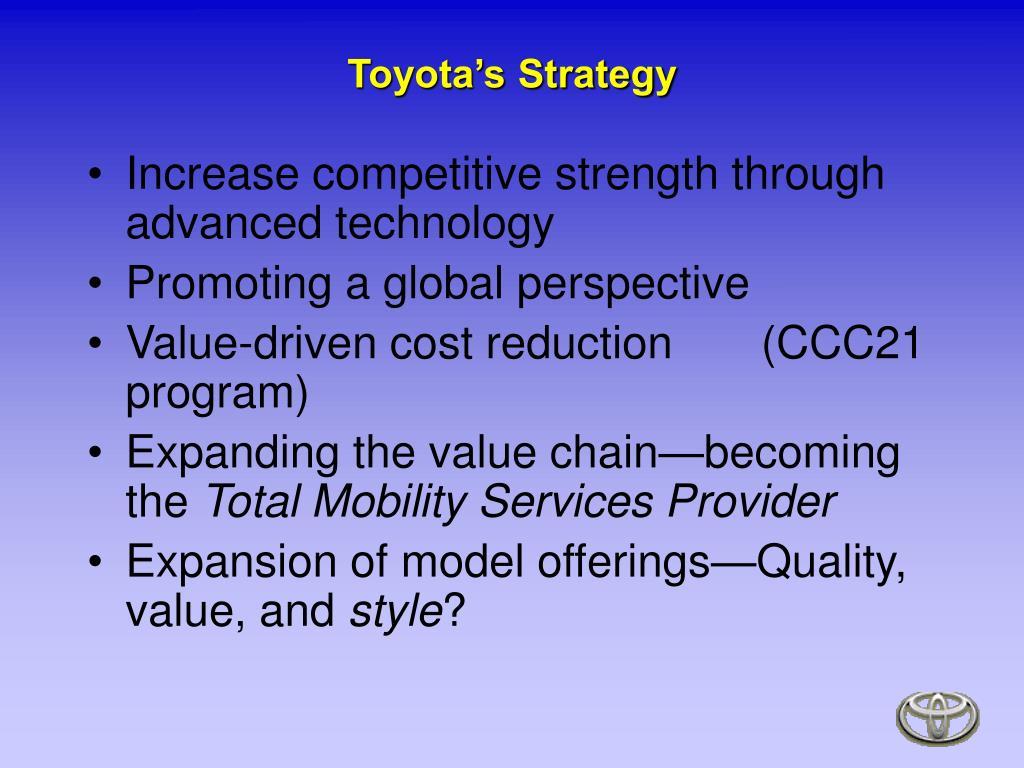 Toyota's Strategy