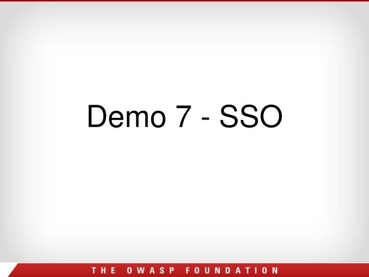 Demo 7 - SSO