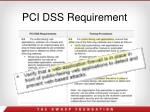 pci dss requirement