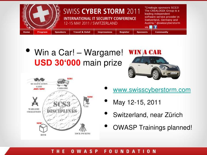 Win a Car! – Wargame!