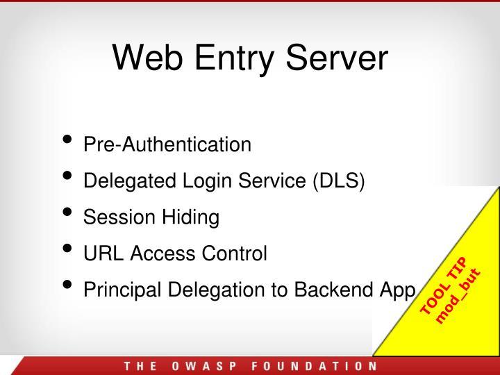 Web Entry Server