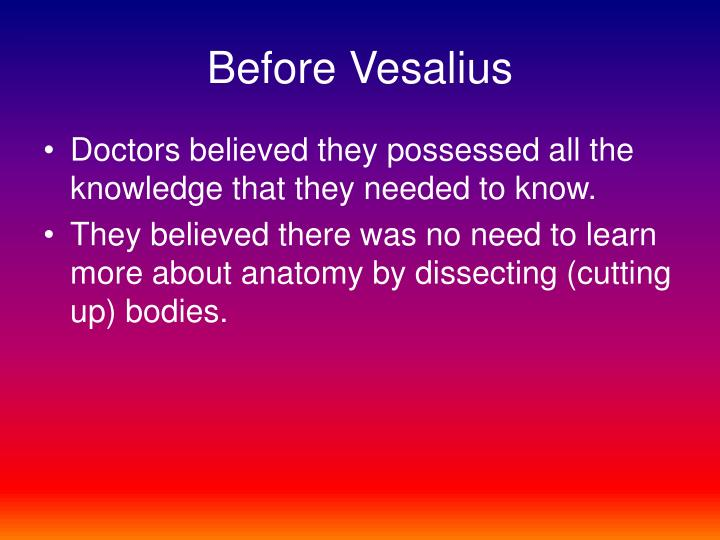 Before Vesalius