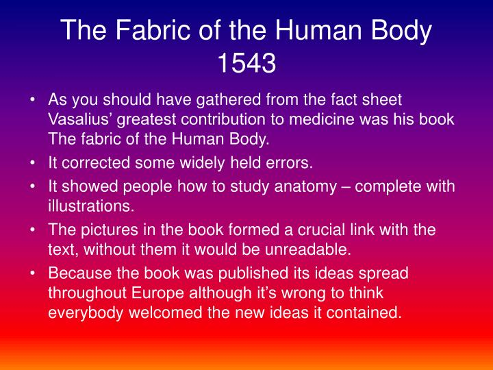 The Fabric of the Human Body 1543