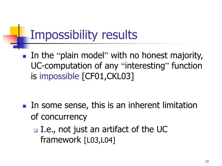 Impossibility results